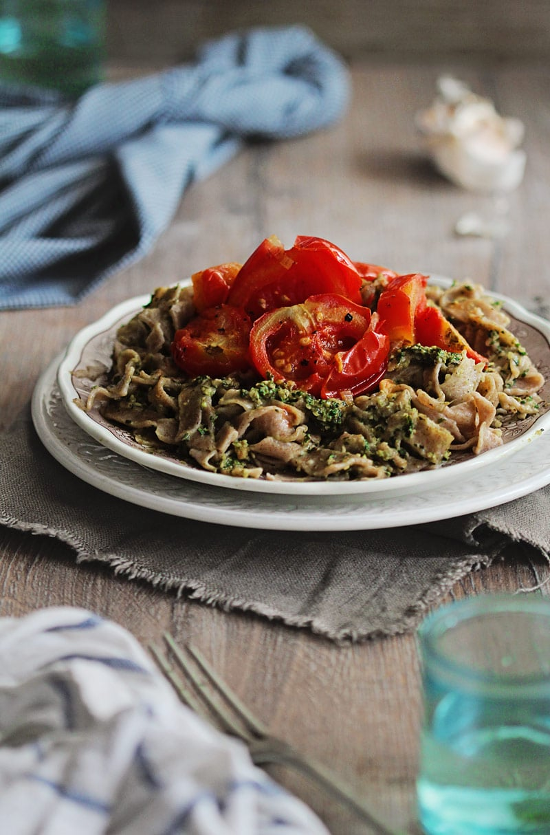 Homemade-Pasta-with-Roasted-Tomatoes
