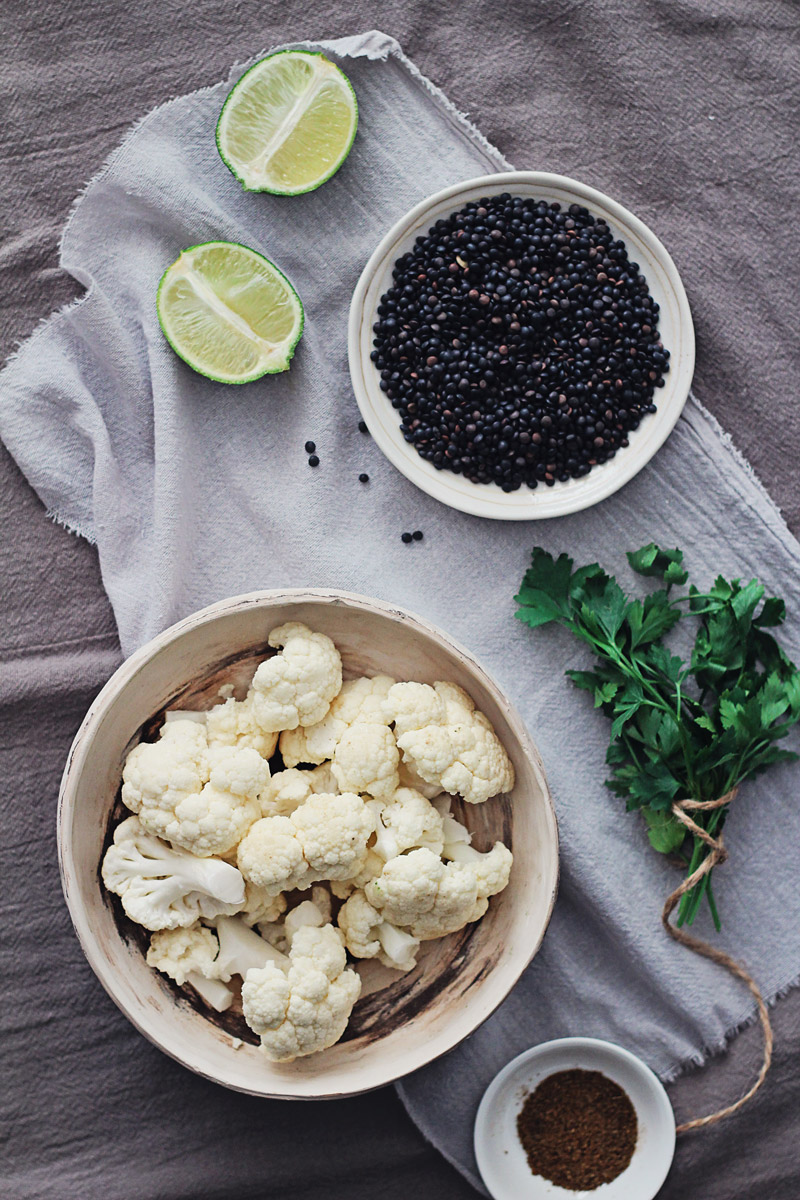 Cumin Roasted Cauliflower with Black Lentils | The Awesome ...