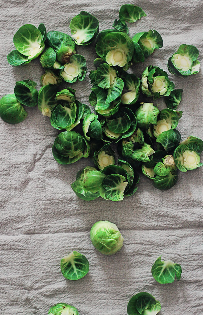Steamed Brussels Sprouts With Tangerine Dressing The