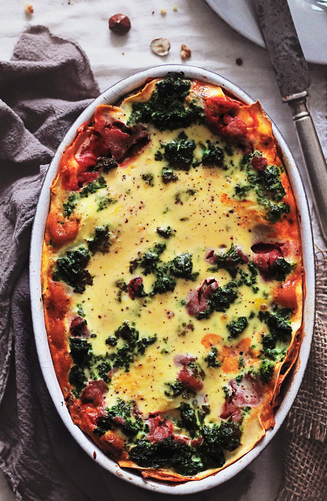 Skinny Vegetarian Lasagna with Mushroom Ragu and Spinach | The Awesome ...
