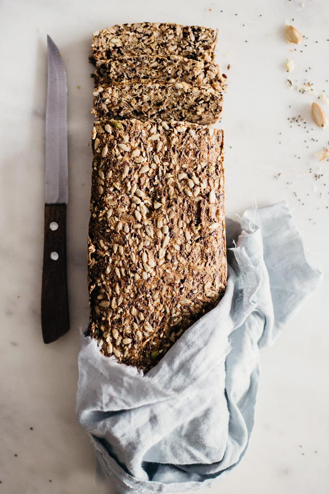 Super seed bread from @MyNewRoots makes a great choice for a healthy snack | TheAwesomeGreen.com