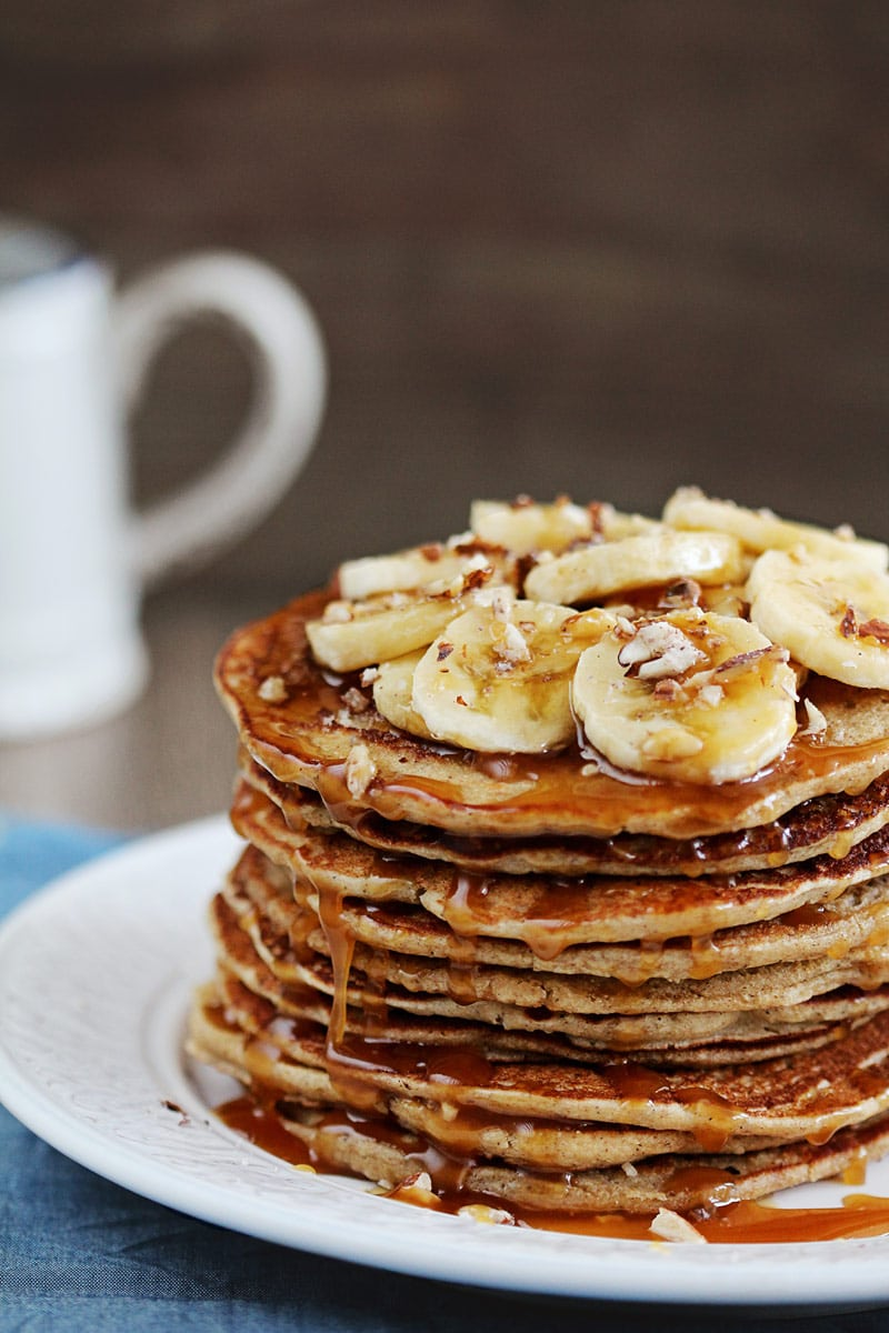 Gluten-Free Buckwheat Banana Pancakes | The Awesome Green
