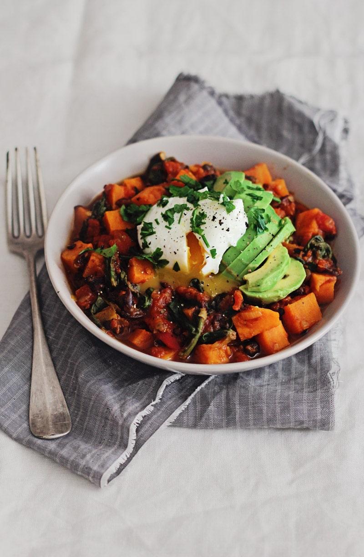 Roasted Sweet Potatoes, Poached Eggs, Avocado forecasting