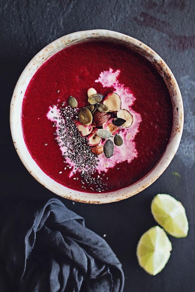 Beet Detox Soup #soup #beet #detox #vegan | TheAwesomeGreen.com