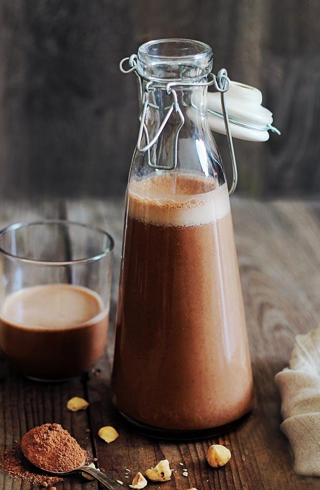 Chocolate Hazelnut Vegan Milk | Easy & Healthy Vitamix Recipes | Homemade Recipes