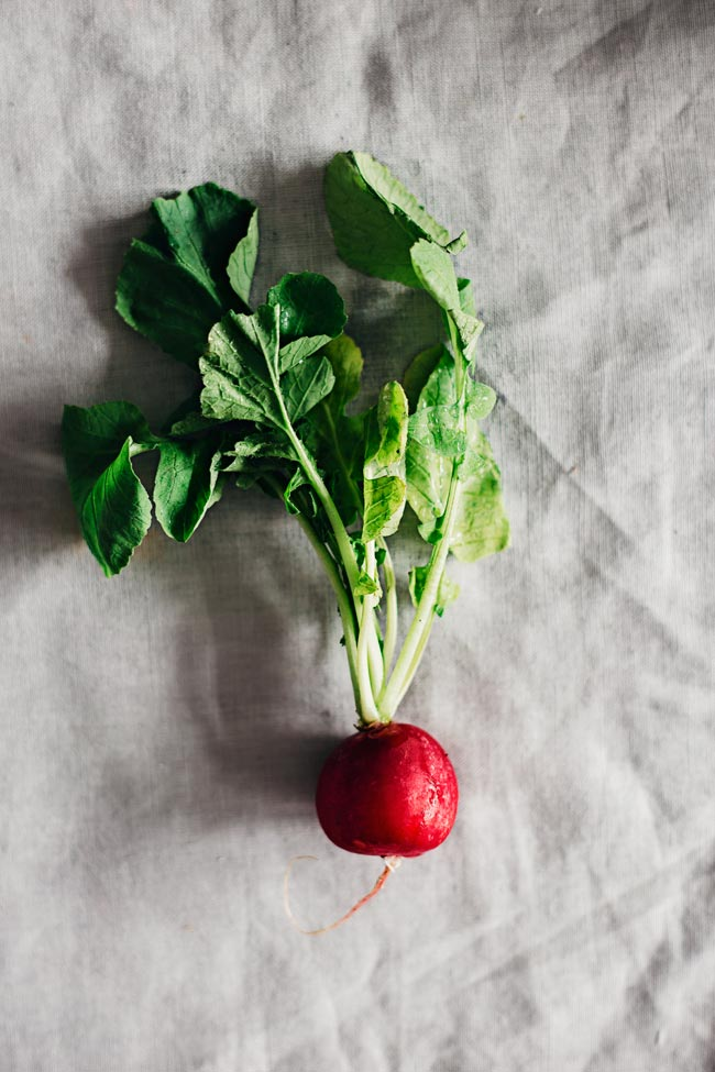 Fresh radish, my favorite crunchy vegetable in spring #detox #greens | TheAwesomeGreen.com