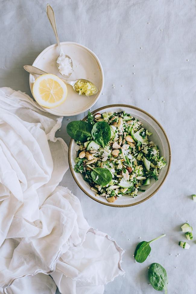 Gentle detox quinoa salad #vegan | TheAwesomeGreen.com